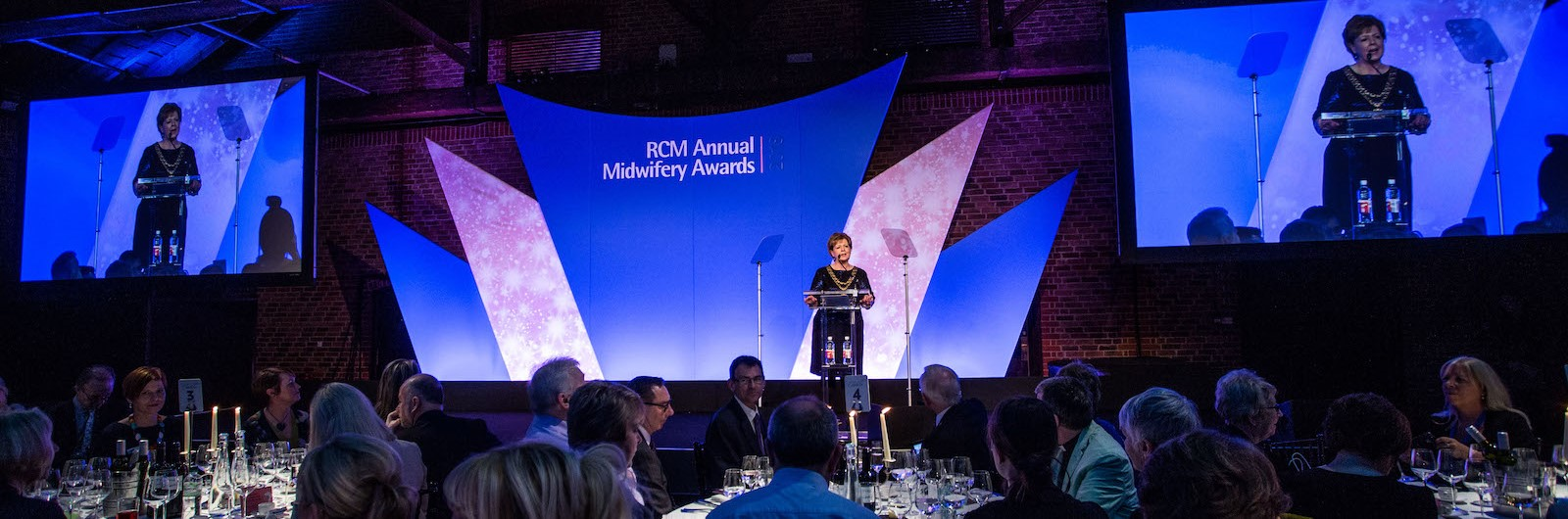 RCM President speaking at the RCM Annual Midwifery Awards 2018